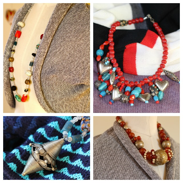 knits and jewelery