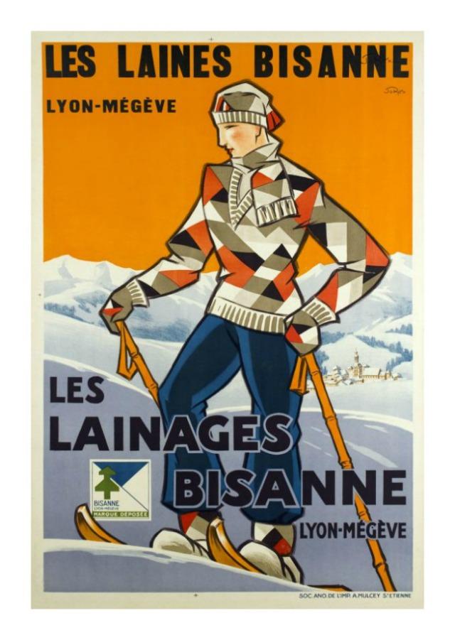 ski posters vintage