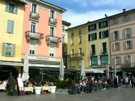 A piazza in central Lugano