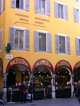 Traditional salumeria in Lugano