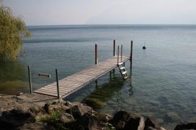 A dock near Cully.