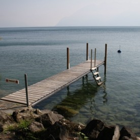 A dock near Cully.