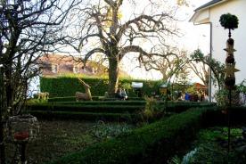 Garden at La Noyère Xmas Market, Mont-sur-Rolle, Vaud