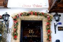 Hotel Chesa Valese's welcoming front door.
