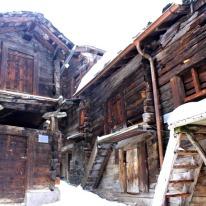 Wonderfully preserved homes/barns in central Zermatt village.