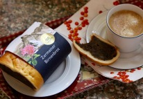 My preferred souvenir, a slice of Birnenbrot - pear bread - is always welcome with coffee or tea.