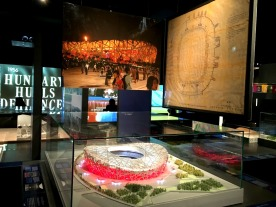 Model of the Bird's Nest in Beijing, the largest stadium ever built for an Olympic Games.