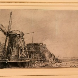 A windmill and landscape rendered in exquisite detail.