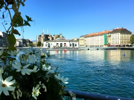 A view from flower-bedecked Pont des Bergues.