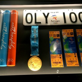 Memorabilia from the Sydney 2000 Summer Olympics.