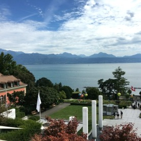 The stunning view from the terrace of the TOM café-restaurant.