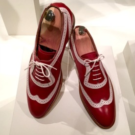 """""""Les Nationales"""". Made-to-measure shoes by Manufacture de Souliers Arturo Belli for the Swiss National Day celebration in 2015."""