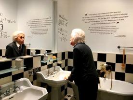 A family bathroom recreated as an homage to Albert Einstein.
