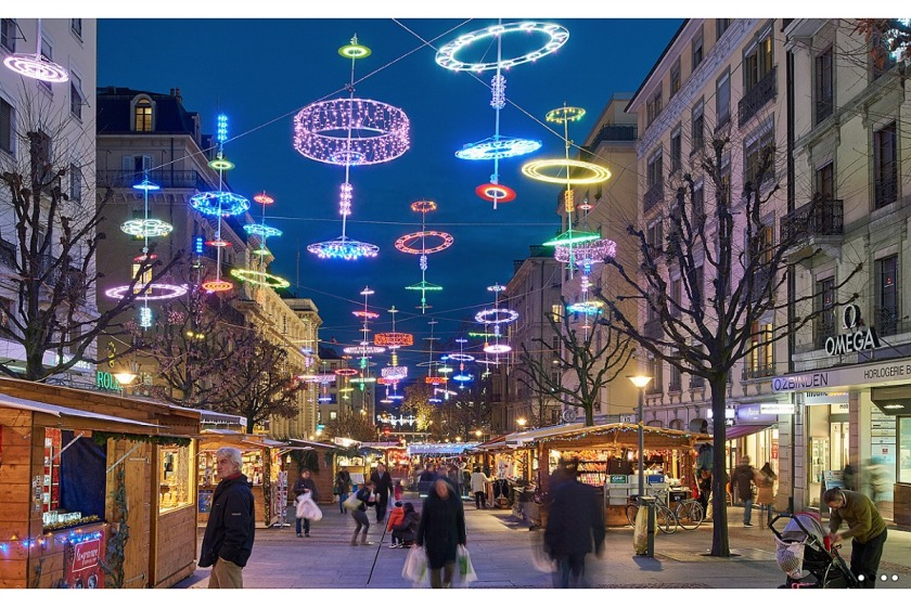 Christmas lights Geneva