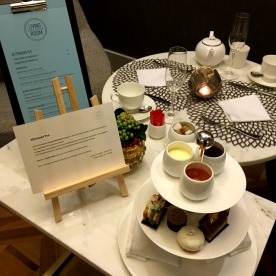 Afternoon tea includes a selection of fine, organic teas and hot chocolate from chocolatier Philippe Pascoët.