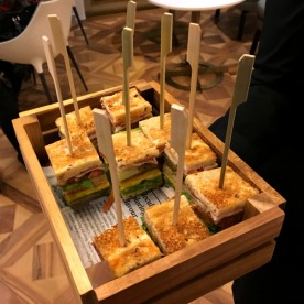 Samples of the house club sandwich.