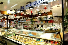 Asian food and products entice shoppers at Traiteur Nguyen.