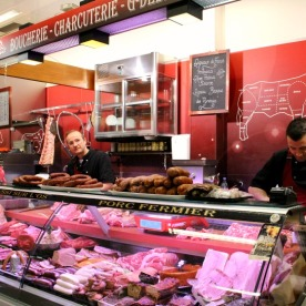 The boucherie/charcuterie merchants G.Debarre and D.Decré.