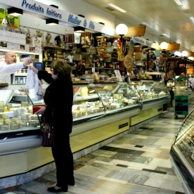 La Halle de Rive has numerous dairy merchants offering an excellent selection of cheeses, milk, and yogurt.
