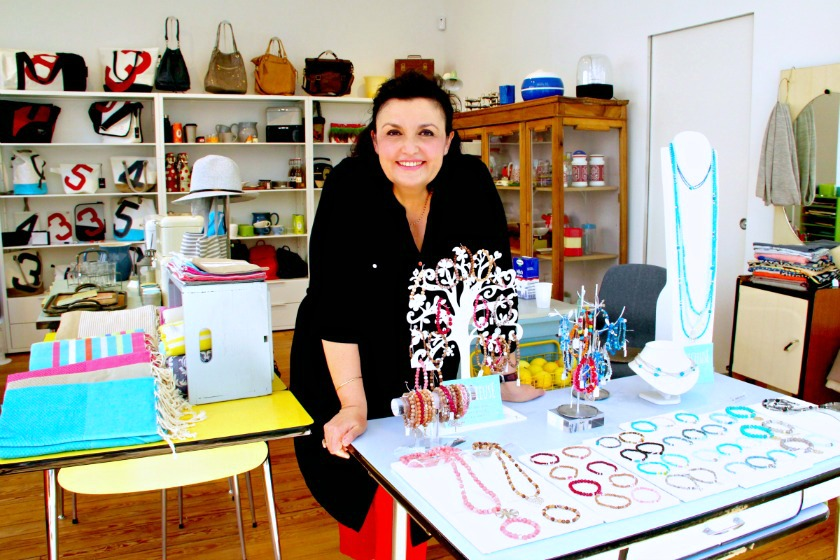 Capricieuse Proprietor Isabelle Giovenni Has Found The Perfect Location To Sell Her Own Jewellery Line Foreground As Well As Lovingly Chosen Merchandise